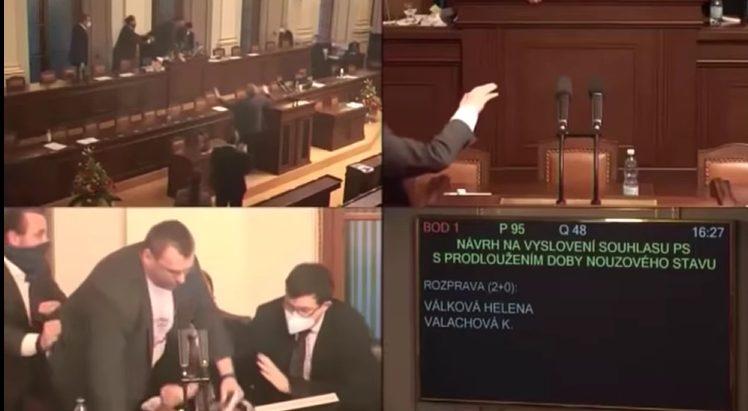 ВИДЕО: Дебата во чешкиот парламент прерасна во тепачка, полицијата ќе ги казни учесниците