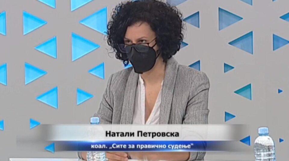 Петровска: Критериумите за прочистување на судството се идентични како во законската регулатива, нема ниту еден обвинител кој бил разрешен или подлегнал на одговорност
