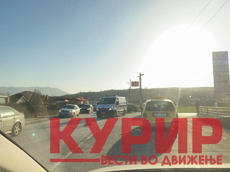 ФОТО: Сообраќајка во Новоселски пат, сообраќајот во прекин