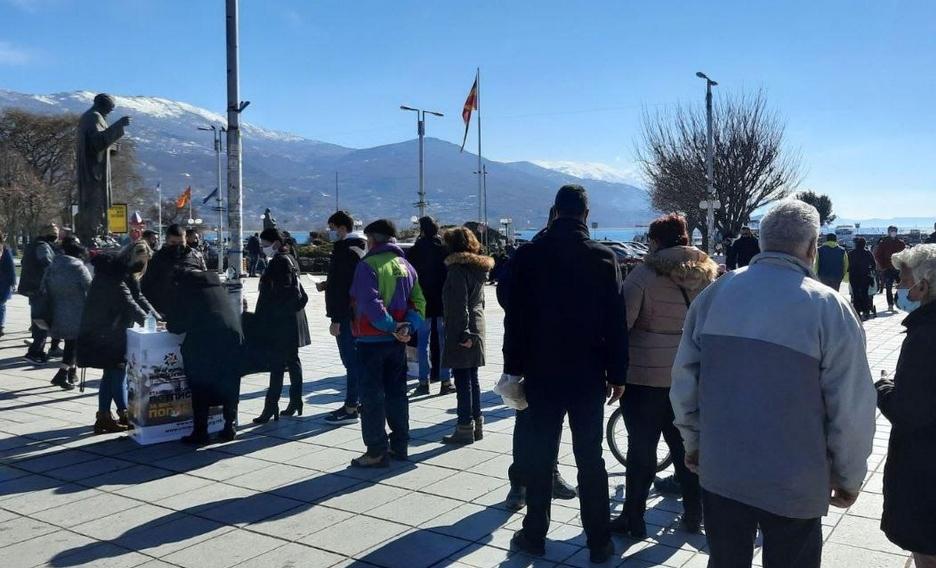 Масовна поддршка од граѓаните против фалсификат попис на Заев и СДСМ (ФОТО)