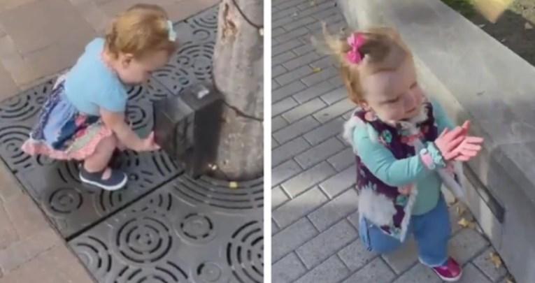 Мало девојче родено во 2020 година мисли дека се околу неа служи за дезинфекција за раце (ВИДЕО)