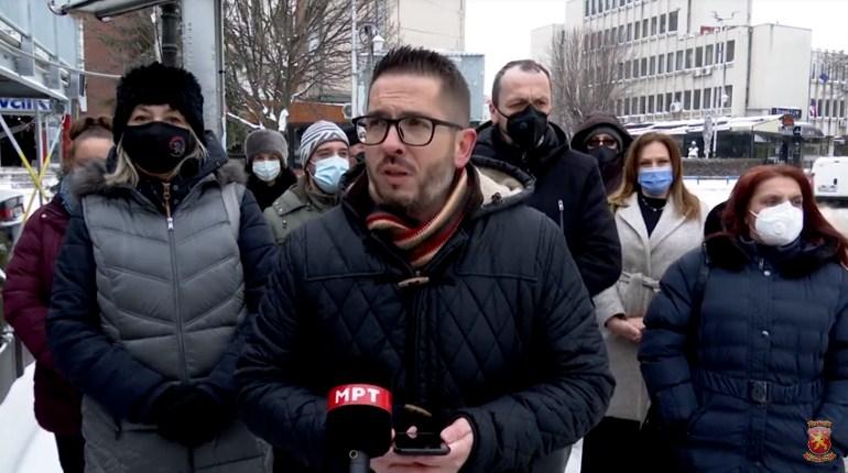 Божиновски: Димитриески даде тендер од 10,4 милиони денари, пари на кумановчани, за нечисти коловози и заледени улици