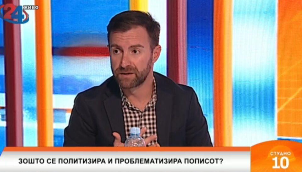 Димовски: Уште непочнат пописот веќе има искри, на Македонија и треба строго дигитален попис