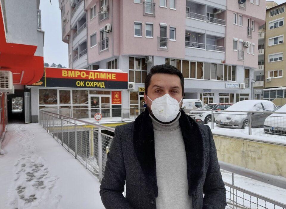ВМРО-ДПМНЕ ОК Охрид: Градот под снег, локалната власт и градоначалникот Георгиески во застој