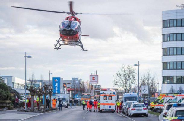 """ВИДЕО: Силна експлозија во """"Лидл"""", активирани хеликоптери за Итна помош"""