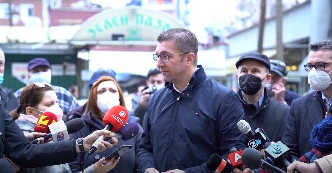 Мицкоски по средбата со пазарџиите: Настрана розевите очила и лагите на владата, народот живее тешко и во сиромаштија