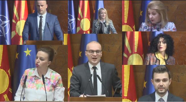 Пратениците од ВМРО-ДПМНЕ: Димитров требаше сам да поднесе оставка по недобивањето на датум за преговори, а не да чека интерпелација