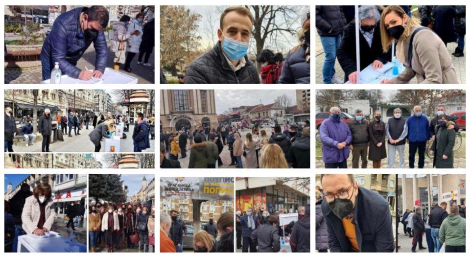 ФОТО: И пратениците од ВМРО-ДПМНЕ со потпис против штетниот Закон за попис