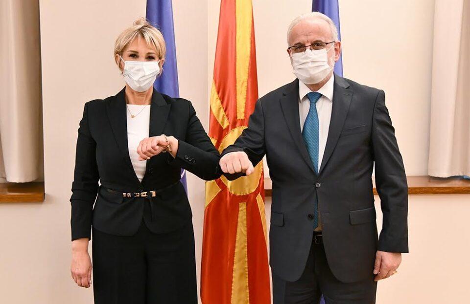 Средба на Џафери со хрватската амбасадорка во Македонија, Нивес Тигањ