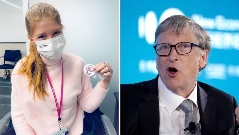 """Ќерката на Бил Гејтс се вакцинираше против коронавирусот: """"Не ми ја всадија генијалноста на татко ми.."""""""
