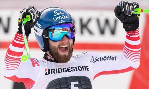 """Марко Шварц е победник на алпската комбинација во """"Кортина Д'Ампецо""""."""