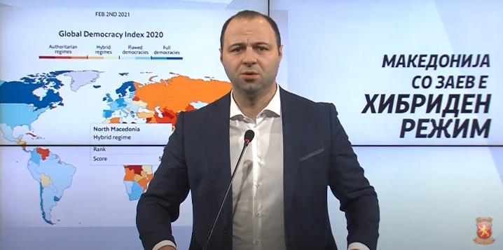 Мисајловски: Македонија со Заев е хибриден режим, невини во затвор, криминалци на слобода, странски инвеститори бегаат, излезот е оставка на Владата