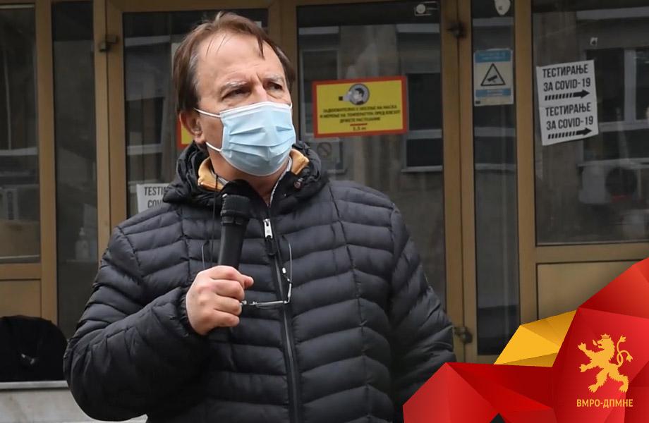 Чибишев: Живееме во епидемиолошка агонија, а немаме вакцини, Комисијата за заразни болести да побара одложување на пописот за да нема човечки загуби