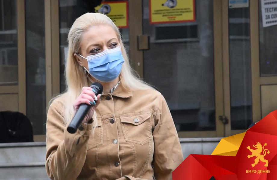 Д-р Андоновска: Апсете ги одма и кривична пријава за пратеничката од СДСМ која го загрозува здравјето