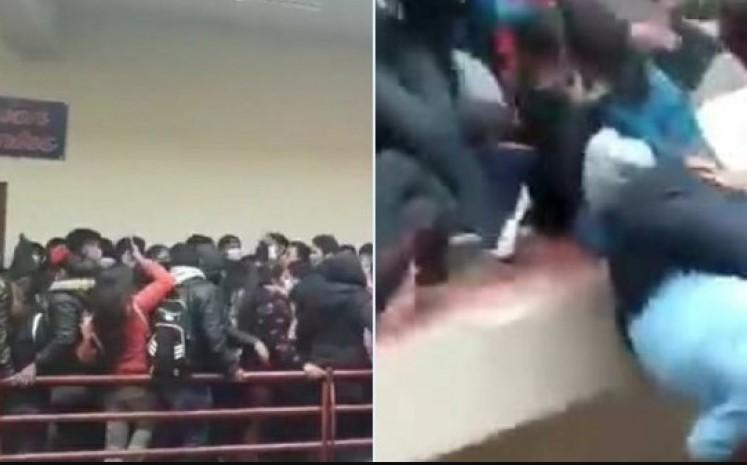 ВОЗНЕМИРУВАЧКО ВИДЕО: Пет студенти загинаа откако се сруши ограда на факултет во Боливија