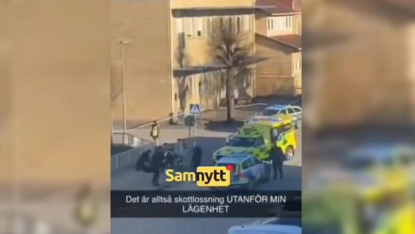 Прва снимка од терористичкиот напад: Избодени најмалку 8 лица во Шведска (ВИДЕО)