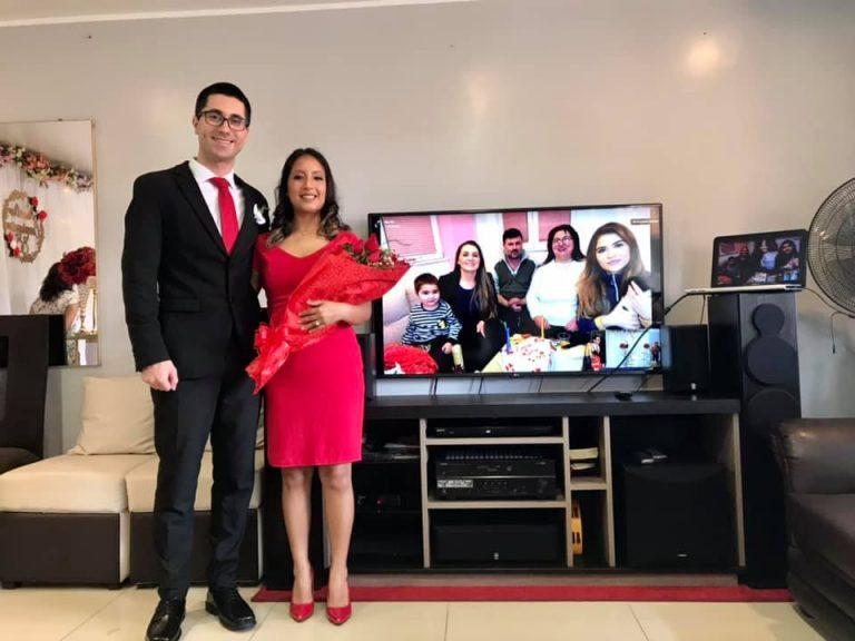 Љубовта го победи коронавирусот: Македонец се вери со девојка од Перу- веридбата се следеше онлајн (ФОТО)