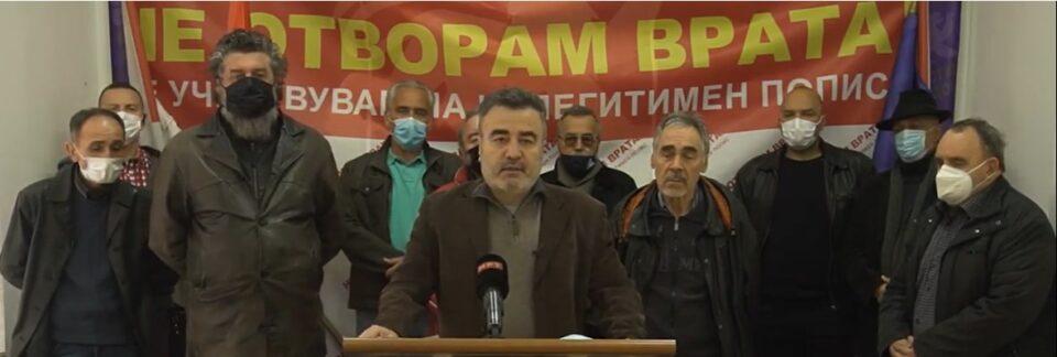 """Националниот Блок """"Не отворам врата"""" ги прифати определбите на ВМРО-ДПМНЕ"""