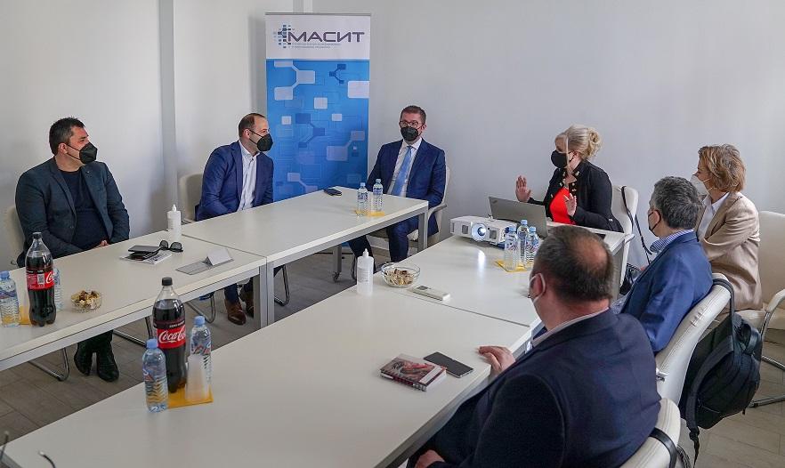 Мицкоски по средбата во МАСИТ: На ИКТ индустријата и недостасува поддршка од владата, потребен е стимул за овие компании