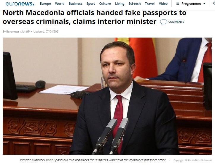"""Спасовски со """"Мафија стигна до Еуро њуз"""", криминалот со пасошите пристигна реномирано до Брисел"""