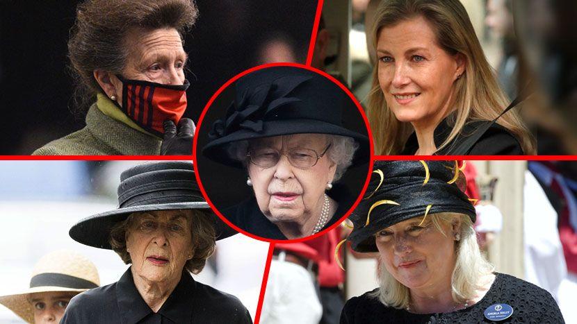 Четири жени ја тешат кралицата додека жали за Филип: Тие се лојални а не се ниту Кејт ниту Камила