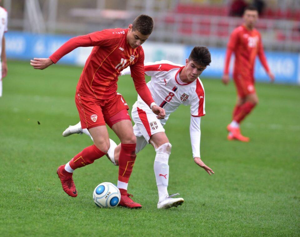 Фудбалската репрезентација на Македонија до 19 години ја совлада Црна Гора