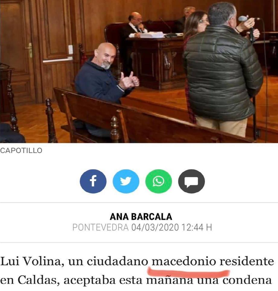 Николоски: Луј Волина осуден во Шпанија за трговија со дрога, добил македонски пасош од МВР на Спасовски