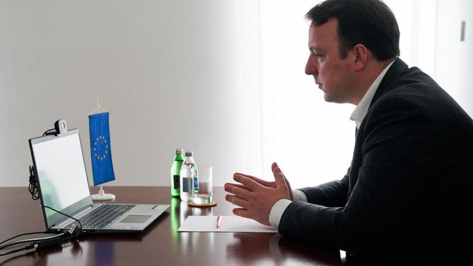 Николоски на конференција со ЕУ пратеници: Бугарија веднаш да го тргне ветото и да престане со условувањата