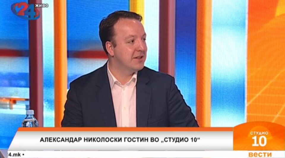 Николоски: Пратениците од позицијата можеа да го употребат ЕУ знаменцето за петтиот пакет мерки, но не сакаа бидејќи во буџетот немаа пари за исплата