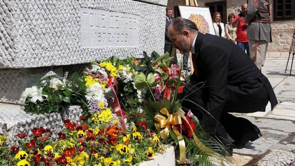 Трајановски: Аманетот на Гоце Делчев да не го забораваме ни 118 години по неговата смрт