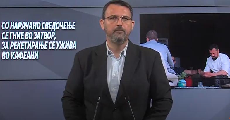 Стоилковски: Со нарачано сведочење се гние во затвор, за рекетирање се ужива во кафеани