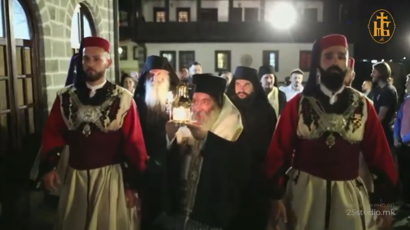 ВИДЕО: Пристигнување на Благодатниот Оган во Бигорски манастир- ГОЛЕМ БАГОСЛОВ ЗА СИТЕ