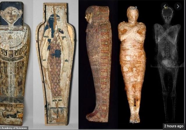 ФОТО+ВИДЕО: Откриена првата бремена египетска мумија