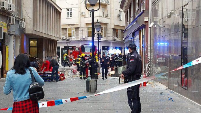 Пет лица повредени во експлозија на плинска боца во центарот на Белград