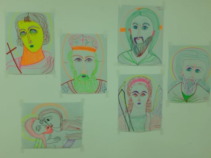 """Изложба на педесетина цртежи од Јасминка Новковска, насловена """"Светци"""""""