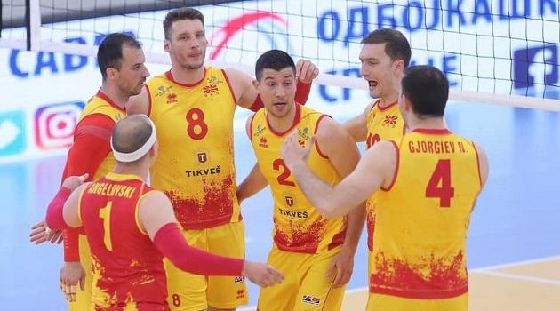 Македонија ја победи Данска со 3:0 во сетови