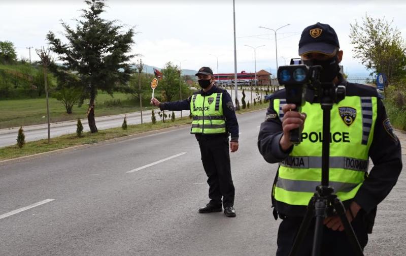 СВР Штип: За брзо возење полицијата напиша 106 казни
