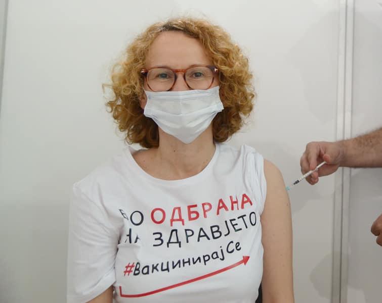 И Шекеринска се вакцинираше (ФОТО)