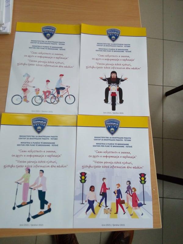 СВР Тетово со едукативен проект за велосипедисти, пешаци, мотоциклисти и возачи на електрични тротинети