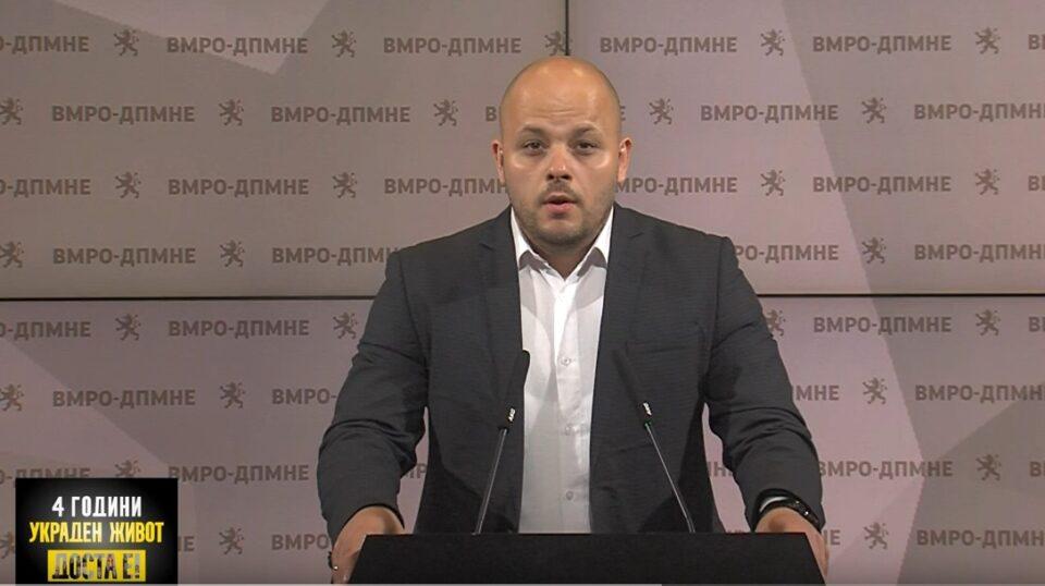 Костовски: МВР на Спасовски да ги казни сторителите на вчерашниот инцидент и приведување, ВМРО-ДПМНЕ и денеска протестира, Заев да го покаже патоказот