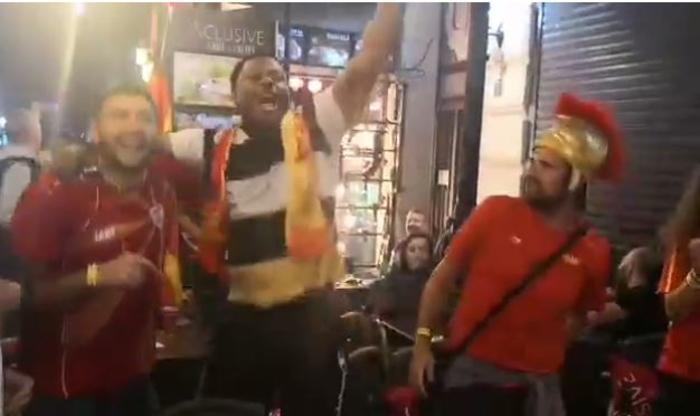 Македонските навивачи се хит во Букурешт – Погледнете ја најновата навивачка икона | ВИДЕО