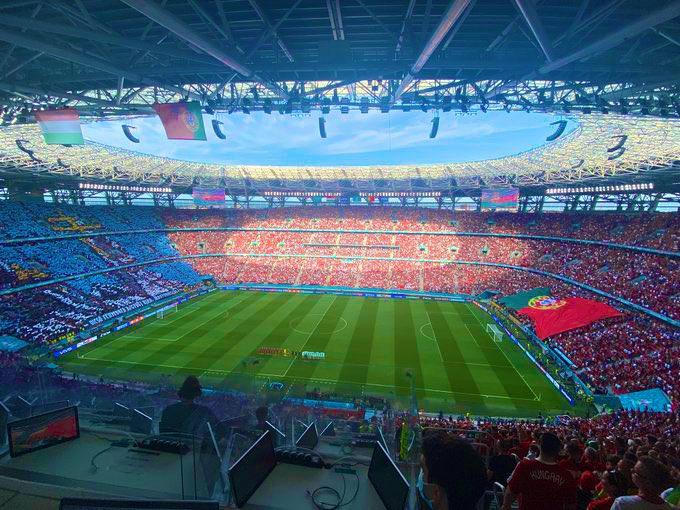(ФОТО) Мечот Унгарија-Португалија се игра пред целосно исполнет стадион