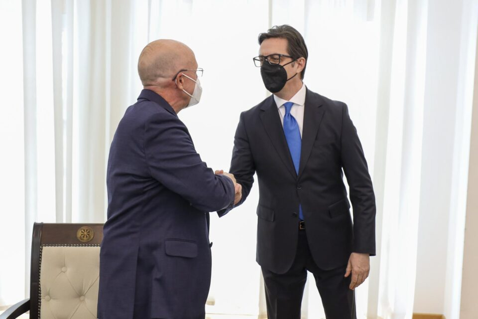 Средба на Пендаровски со потпретседател на Хабитат за Европа, Среден Исток и Африка, Рик Хатавеј