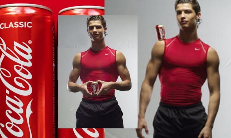 Со еден потег им причини пад на акциите и загуба од 4 милијарди долари: Во минатото Роналдо снимал реклами за кока-кола! (ВИДЕО)