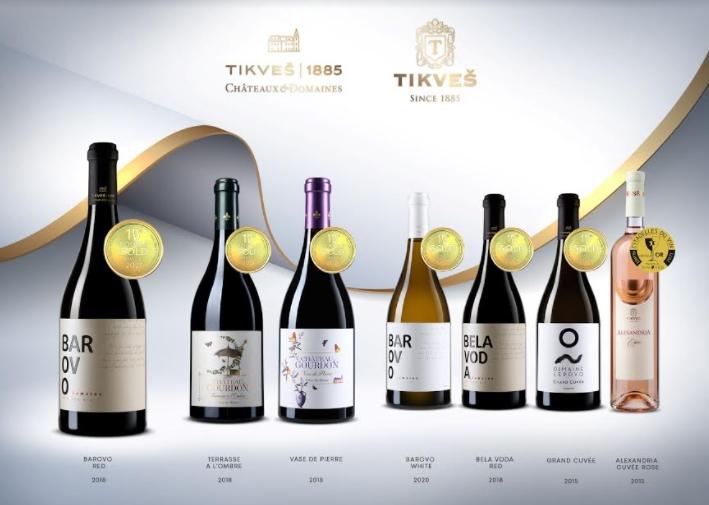 """Потврда за врвен квалитет – вината на Тиквеш"""" и """"Tikveš Châteaux & Domainеs""""  освоија 37 награди"""