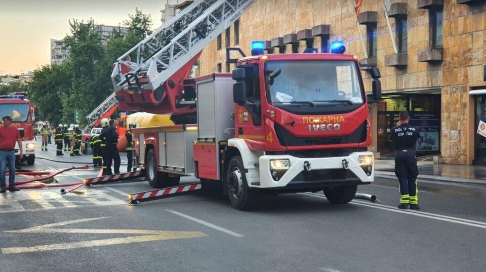 ВИДЕО: Спасителна вежба во центарот на Скопје предизвика паника