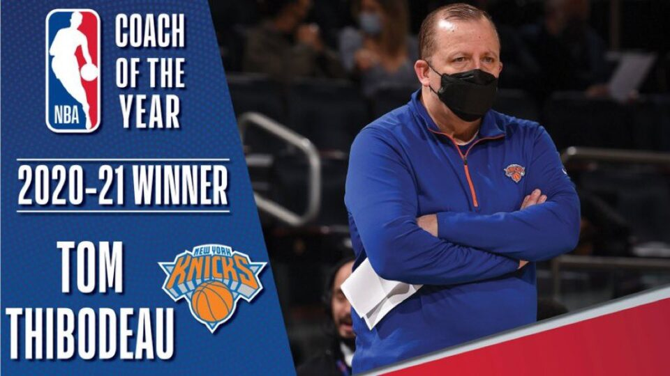 Том Тибоду избран за тренер на годината во НБА лигата