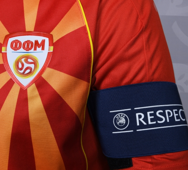 ФОТО: Македонија со црвените дресови против Украина