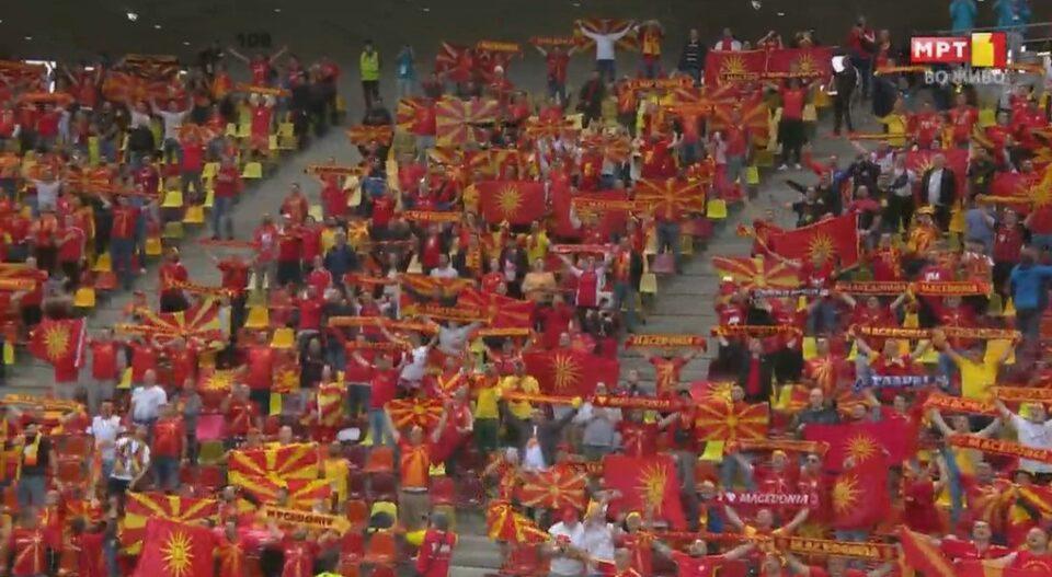 МАКЕДОНИЈА НА ЕВРОПСКО: Се развеаја македонските знамиња, публиката во Букурешт во еуфорија (ФОТО)