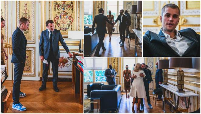 ФОТО: Џастин Бибер во посета на францускиот претседател Макрон, која е причината за оваа средба?